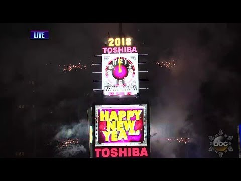"ABC 2018 ""Dick Clark's New Year's Rockin' Eve with Ryan Seacrest"" Ball Drop New York HD 720p"