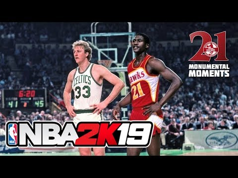 NBA 2K19 DOMINIQUE WILKINS Atlanta Hawks Boston Celtics gameplay