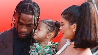 Stormi Makes Red Carpet Debut With Kylie Jenner & Travis Scott At 'Look Mom I Can Fly' Event