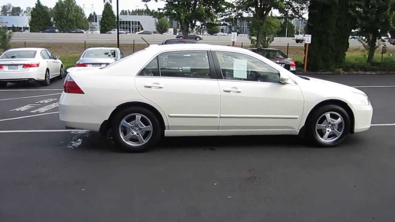 2006 Honda Accord Premium White Pearl Stock 731079