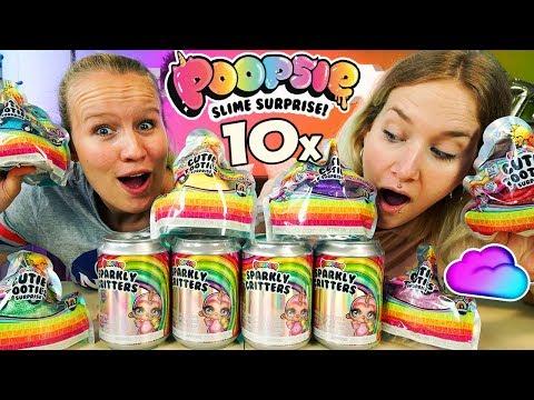 10x POOPSIE SLIME SURPRISE -Sparkly Critters & Cutie Tooties ÜBERRASCHUNGEN mit Nina & Kathi öffnen
