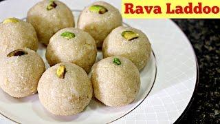Rava Laddoo - Easy Diwali Sweet Recipe   Ravva Laddu Indian Recipes   Sruthi's Kitchen