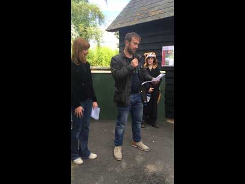 Jason Merrells opens the Red Panda exhibit