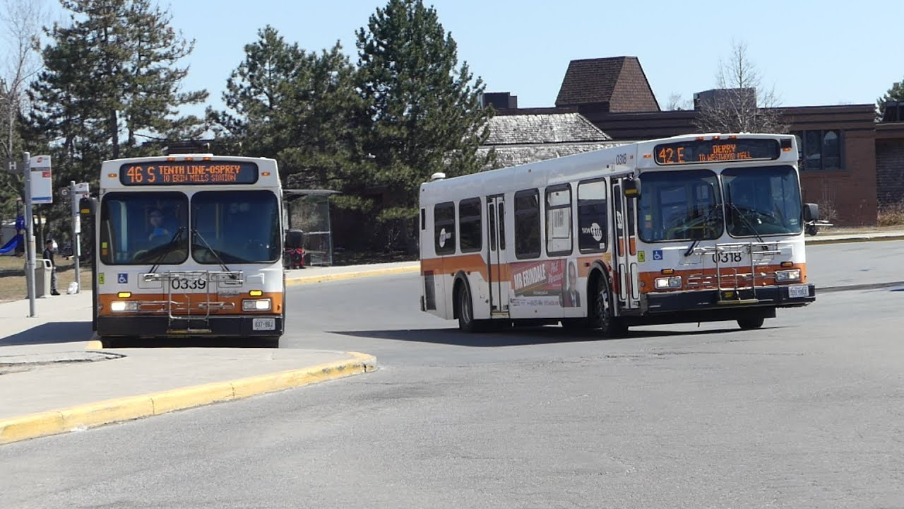 MiWay Bus: New Flyer D40LF D40LFR & Orion VII BRT Routes 42 45 109 & NIS at  Meadowvale Town Centre