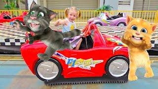 Детская площадка Говорящий кот Том ВЛОГ #3 с MY TALKING TOM в СУПЕР парке Видео для детей vlog