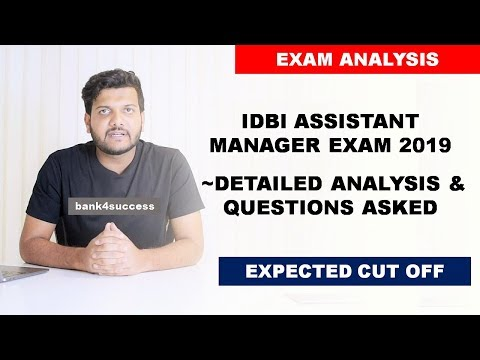 IDBI Assistant Manager 2019 Exam Analysis | Questions Asked In GA