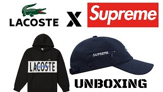 SUPREME X LACOSTE FW19 UNBOXING