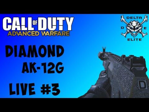 Call of Duty Advanced Warfare: AK-12G Diamond Gameplay - LIVE #3