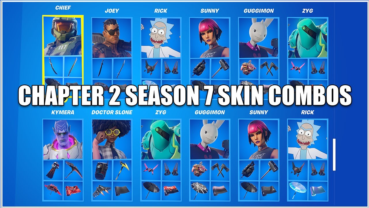 A Bunch of Chapter 2 Season 7 Battle Pass Skin Combos, Best Skin Combos in Fortnite