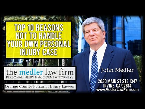 Top 10 Reasons Not To Handle Your Own Personal Injury Case