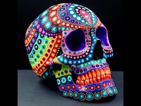 Painted Skulls, Faces And Dunnys By Artist, MP Gautheron