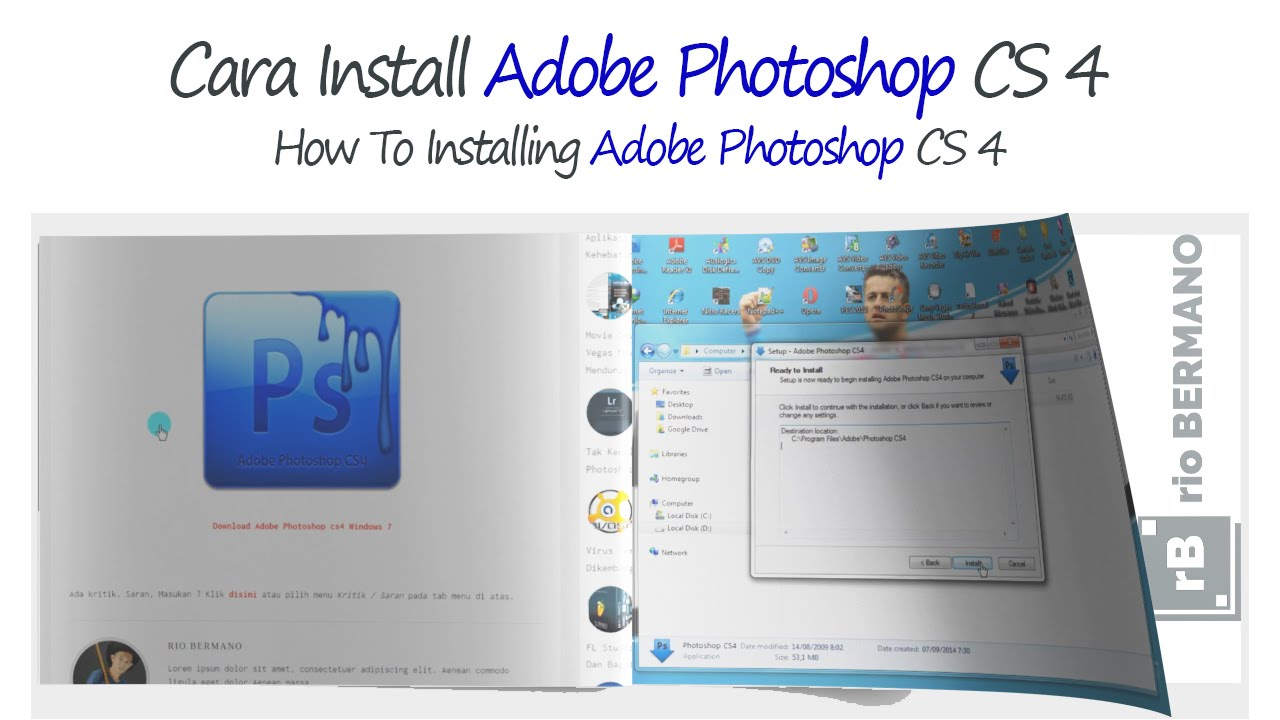 Install adobe photoshop cs 4 youtube baditri Image collections