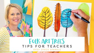 How to Draw and Paint Folk Art Trees