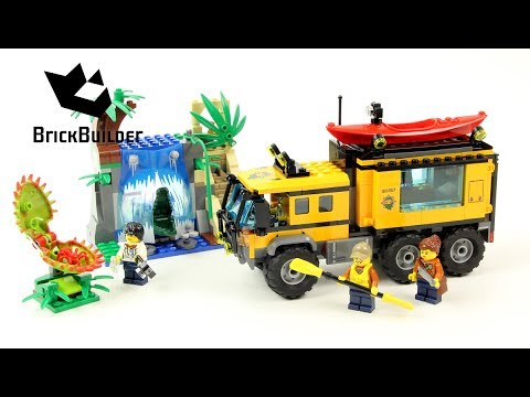 Lego City 60160 Jungle Mobile Lab Lego Speed Build Youtube