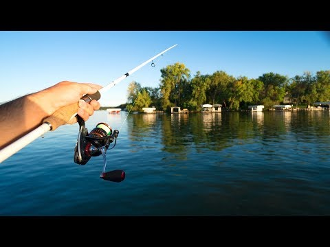 Fishing ULTRA CLEAR Water for BIG Bass!!!