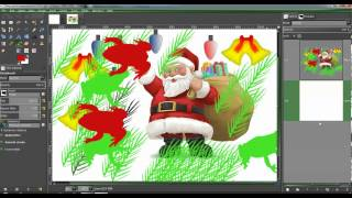 Making a Christmas card with Gimp 11222012