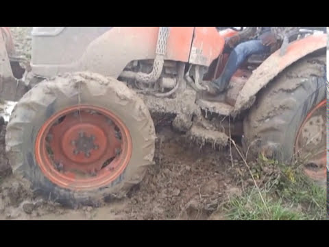 tractor stuck in mud compilation most amazing modern. Black Bedroom Furniture Sets. Home Design Ideas