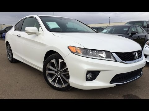 Pre Owned White 2013 Honda Accord V6 Auto EX L W/Navi Review Wainwright  Alberta