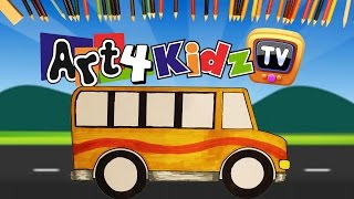 How to Draw a Bus Kids Art