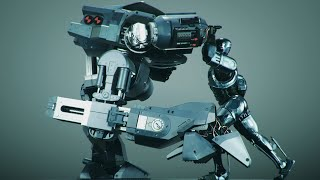 Repeat youtube video 2014 Robocop vs Ed 209: 3D Animation