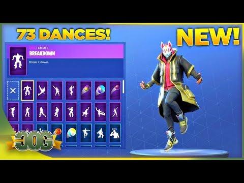 *NEW* STAGE 4 DRIFT SKIN SHOWCASE WITH ALL 73 FORTNITE DANCES & EMOTES! (Fortnite Season 5 Skin)