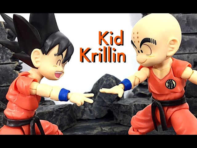 Bandai Tamashii Nations SH Figuarts Dragon Ball KID KRILLIN Action Figure Toy Review