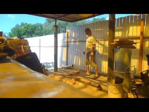 русская уличная печь с плитой под казан своими руками