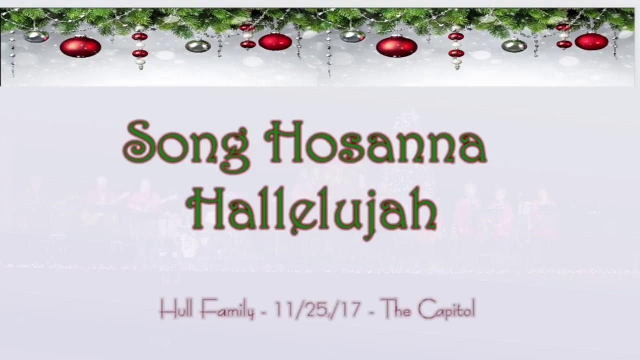 Sing Hosanna Hallelujah - Hull Family - YouTube