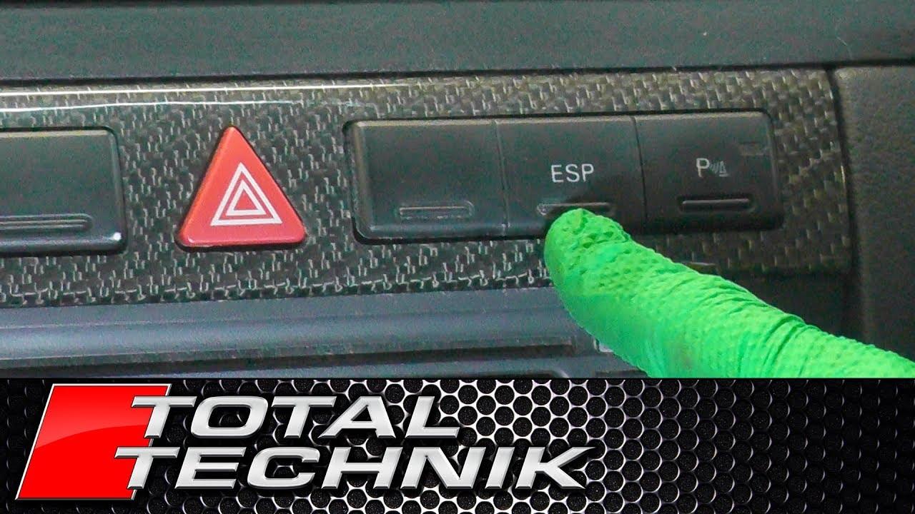 How to Remove ESP Button - Audi A6 S6 RS6 - C5 - 1997-2005 - TOTAL TECHNIK
