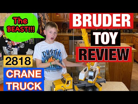 Bruder Toy Crane Truck Review For Kids!! Video Review Of Liebherr Crane Truck