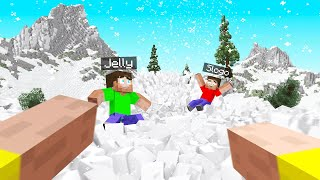 Minecraft But SNOW CHASES You! (Survive!)