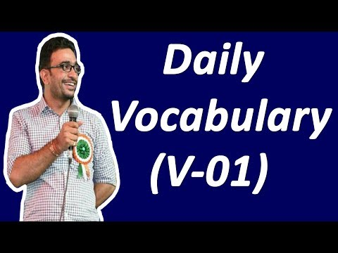 Vocabulary for  SSC CGL (V-01)