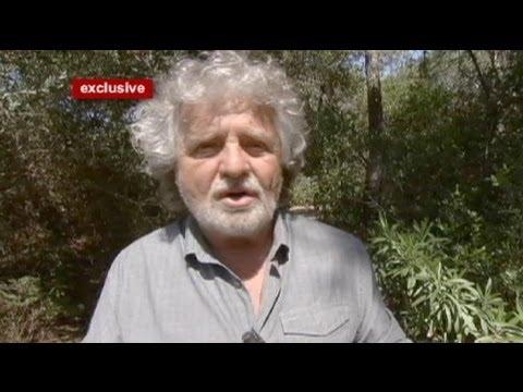 """euronews interview - Beppe Grillo : Si Merkel retoma el marco, nosotros crearemos el """"euro débil"""""""