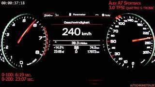 audi a7 sportback 3 0 tfsi quattro s tronic 0 to vmax