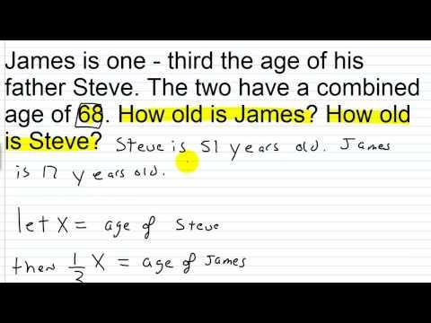 Algebra II Lesson II.4: Age Word Problems I