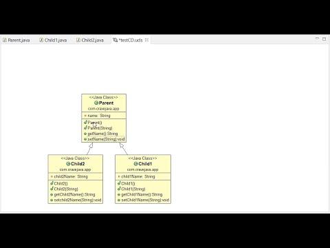 Generate class diagram in eclipse (objectaid) plugin - YouTube