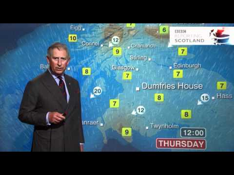 Prince Charles presents the weather forecast - BBC Scotland