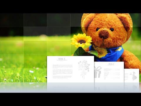 "Interactive Presentation Template ""Happy Birthday"" / Интеративный шаблон презентации ""День Рождения"""