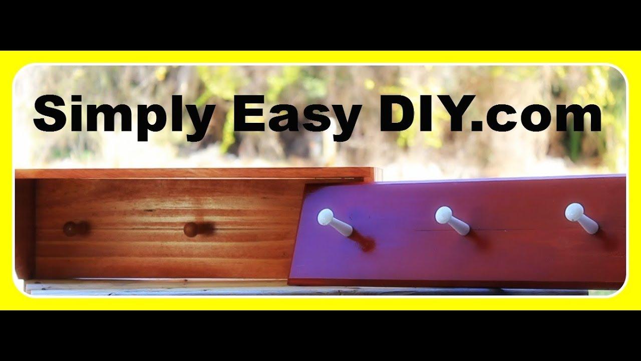 DIY Shaker Style Coat Peg Rack Or Rail Shelf YouTube Classy Shaker Style Coat Rack