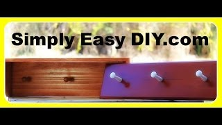 Diy Shaker Style Coat Peg Rack Or Rail Shelf