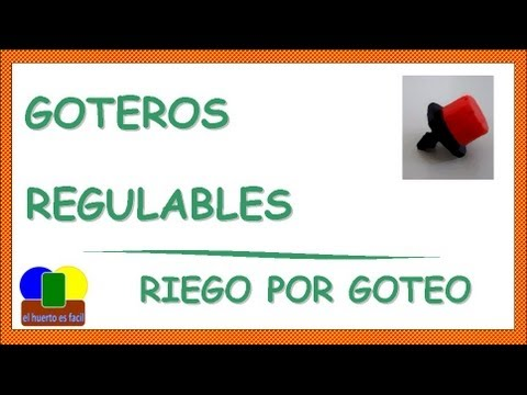 Goteros regulables riego por goteo youtube - Tipos de riego por goteo ...