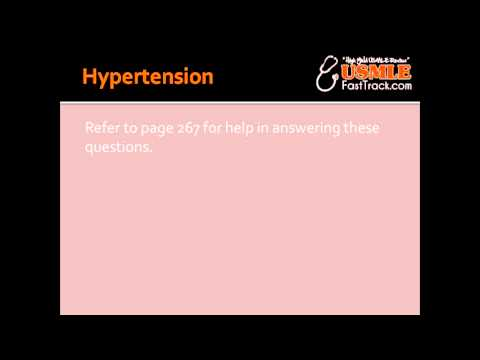 Hypertension - Risk Factors, Features & Predisposes To
