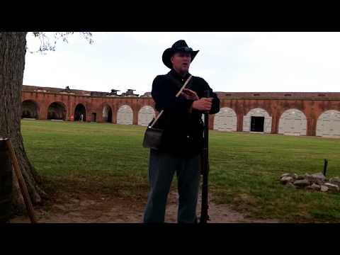 Musket Demo at Fort Pulaski