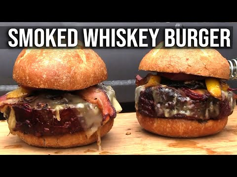 Smoked Whiskey Burgers