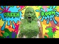 Angie gets a thick green sliming mp3