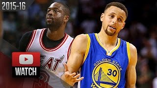 Stephen Curry vs Dwyane Wade EPIC DUEL Highlights (2016.02.24) Heat vs Warriors - MUST Watch!