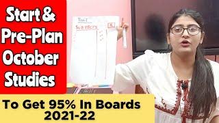 Start & Preplan October Studies With Simran Sahni To Get 95% In Boards 2021-22|