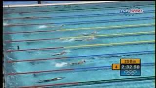 Natación Prueba 400m libre Femenil Final Atenas 2004