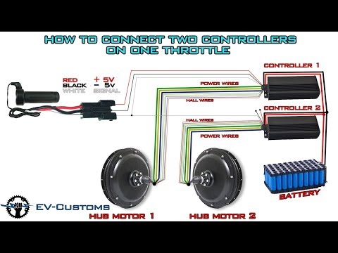 How To Connect two Hub Motor Controllers on one Throttle (Demonstration)