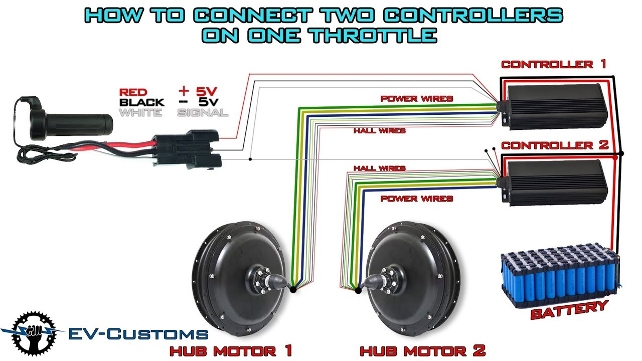 How To Connect two Hub Motor Controllers on one Throttle